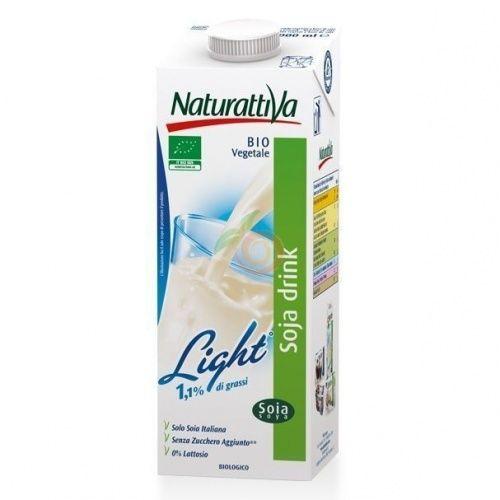 Bebida de soja light 1 litro naturattiva