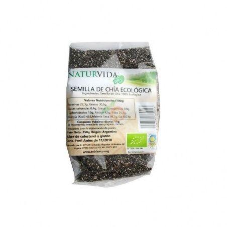 Semillas de chia bio 250 gramos naturvida
