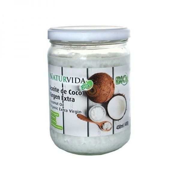 Aceite de coco virgen extra 400 gramos naturvida