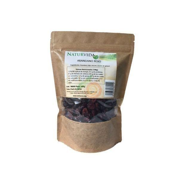 Arándanos rojos 500 gramos naturvida