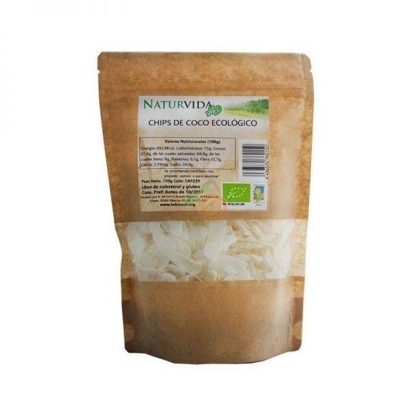 Chips de coco 150 gramos naturvida