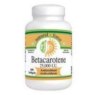 Betacaroteno 25000 ui 100 cápsulas nutri force nutrition