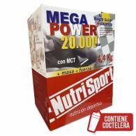 Megapower sobres 20000 sabor chocolate 40 unidades nutri-sport