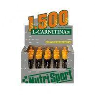 L-carnitina 1500 sabor naranja 20 viales nutri-sport