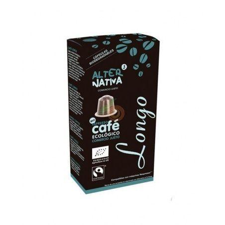 Café bio longo en cápsulas comercio justo 10 cápsulas alternativa3
