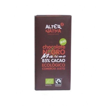 Chocolate 85% cacao mascao bio comercio justo 80 gramos alternativa 3