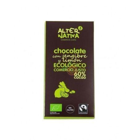 Chocolate con jengibre y limón 60% cacao bio 80 gramos alternativa 3