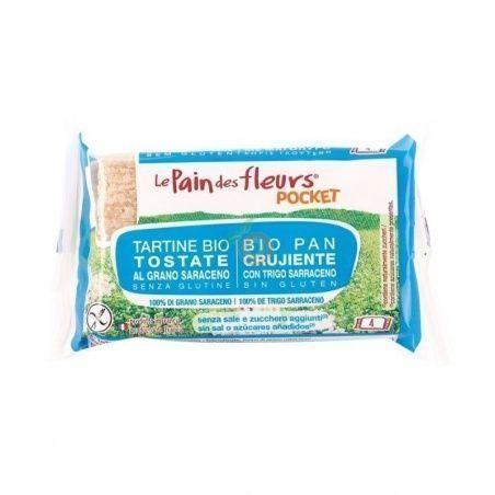 Tostadas de trigo sarraceno sin sal pocket 220 gramos pan de flores