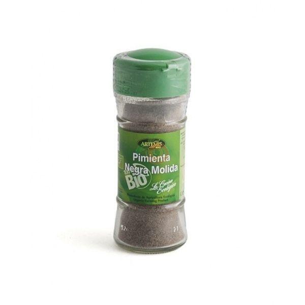 Pimienta negra polvo bio bote 38 gramos artemis