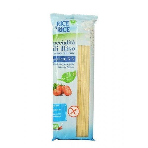 Espagueti blanco de arroz 500 gramos rice & rice