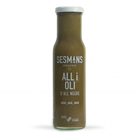 Salsa all i oli de ajo negro 240 gramos sesmans organic
