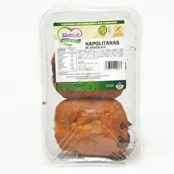 Napolitanas de chocolate 165 gramos sinblat