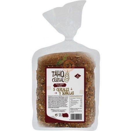 Pan integral 5 cereales y semillas 400 gramos taho cereal