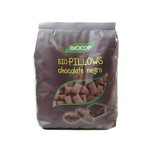 Bio pillows de chocolate negro 30 gramos  biocop
