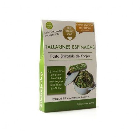 Tallarines de espinacas 200 gramos the konjac shop