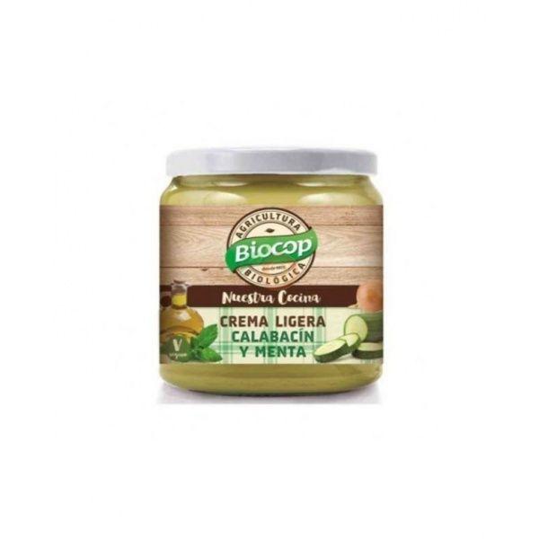 Crema ligera de calabacín y menta  295 gramos  biocop