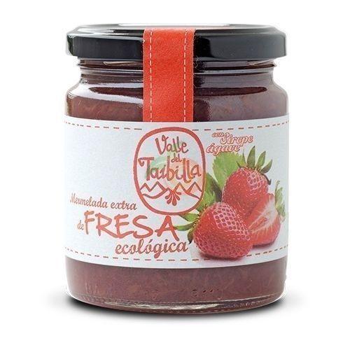 Mermelada de fresa con sirope de agave 260 gramos valle del taibilla