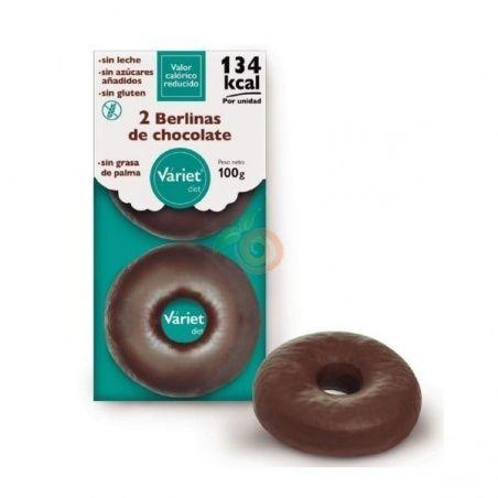 2 berlinas de chocolate 100 gramos variet diet