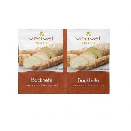 Levadura de panadería granulada en sobres 2 unidades verival bio
