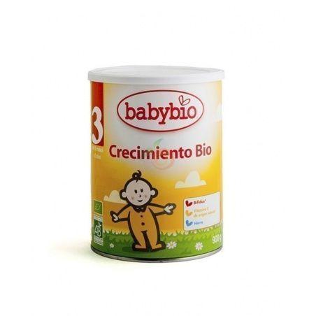 Leche infantil crecimiento 3 bio 10m 900 gramos babybio