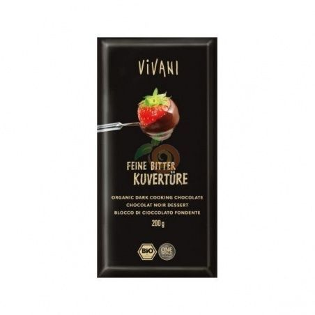 Chocolate negro cobertura 200 gramos vivani