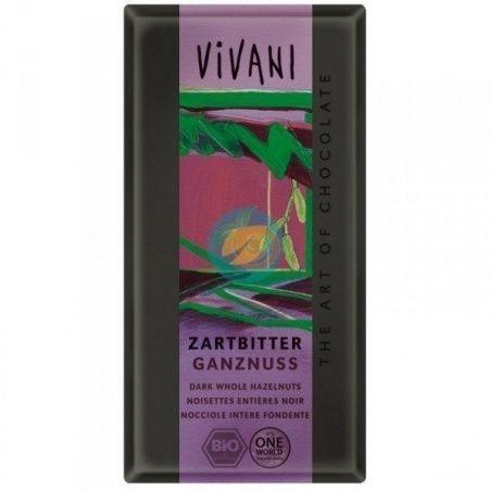 Chocolate negro con avellanas 100 gramos vivani