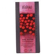 Chocolate negro 70% cacao con frambuesa 100 gramos vivani