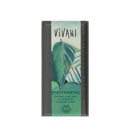 Chocolate negro con menta 100 gramos vivani