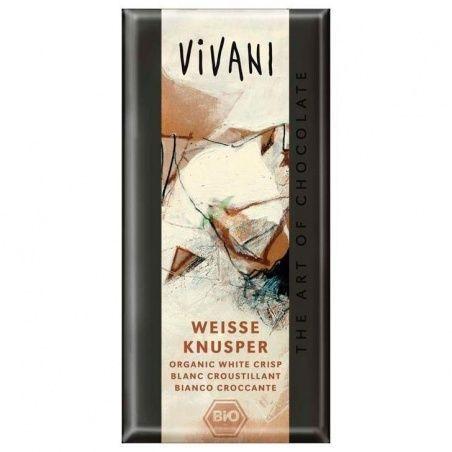 Chocolate blanco con arroz inflado 100 gramos vivani