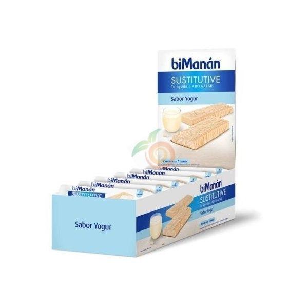 Barritas sustitutivas yogur 24 unidades expositor bimanan