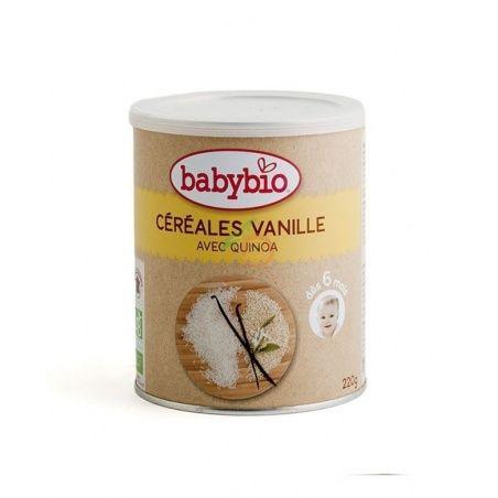Papilla de cereales vainilla quinoa bio 6 meses 220 gramos babybio