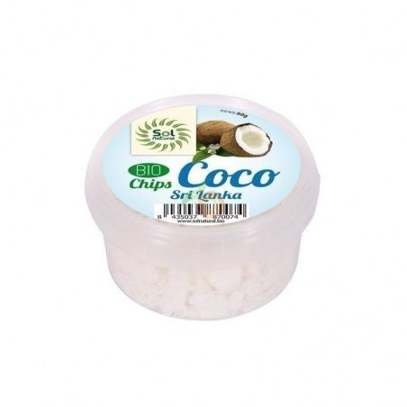 Chips de coco bio sri lanka 150 gramos sol natural