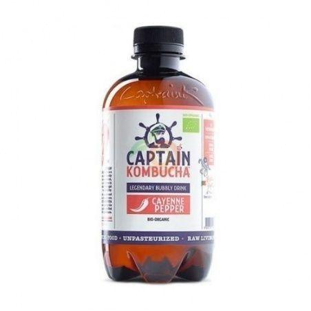 Bebida kombucha cayena bio vegano sin gluten captain kombucha