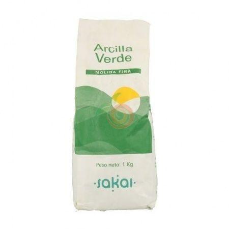 Arcilla verde fina en polvo 1 kg uso externo sakai