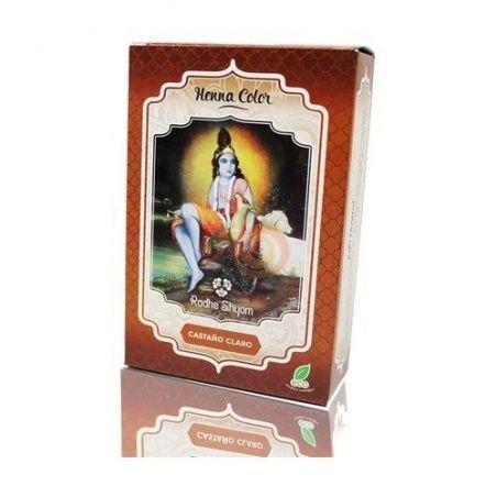 Henna tinte natural castaño claro 100gr en polvo radhe shyam