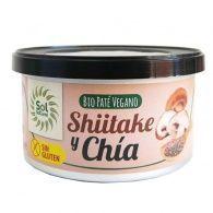 Pate vegano de shiitake y chia 125 gramos solnatural