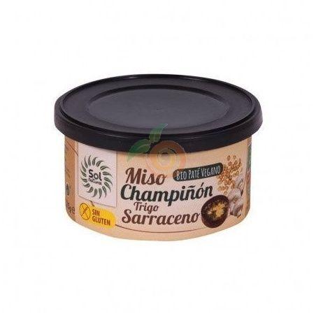 Pate vegano de miso champiñon y trigo sarraceno 125 gramos solnatural