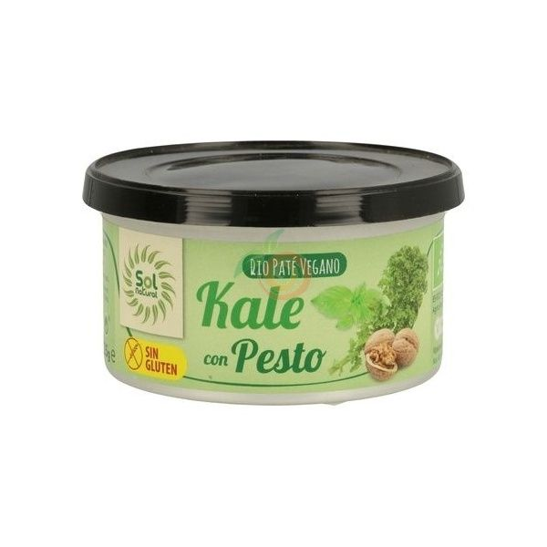 Pate vegano de kale con pesto 125 gramos solnatural