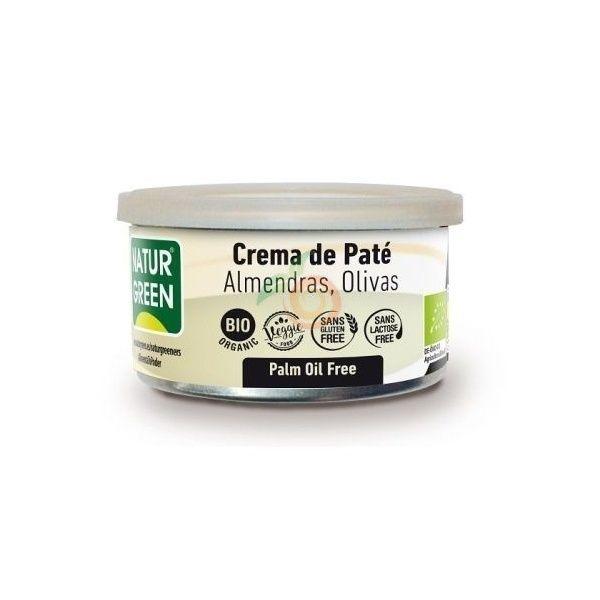 Pate almendras olivas bio 125 gramos naturgreen