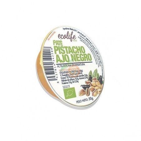 Pate vegetal de pistacho y ajo negro bio 50 gramos ecolife food