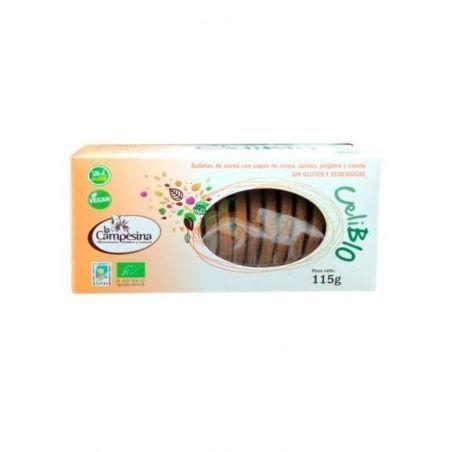 Galletas de avena con quinoa jengibre y canela eco 115 g la campesina