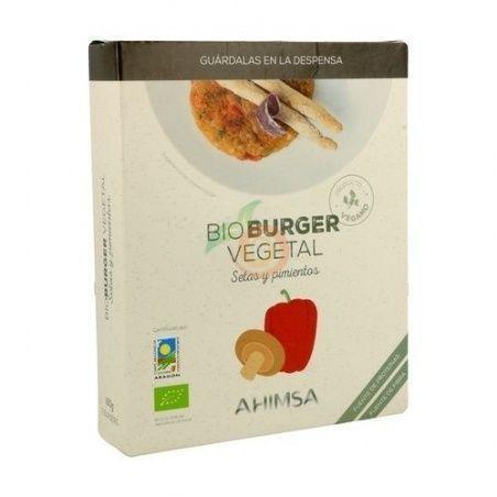 Bioburguer vegetal setas y pimientos 160 gramos ahimsa