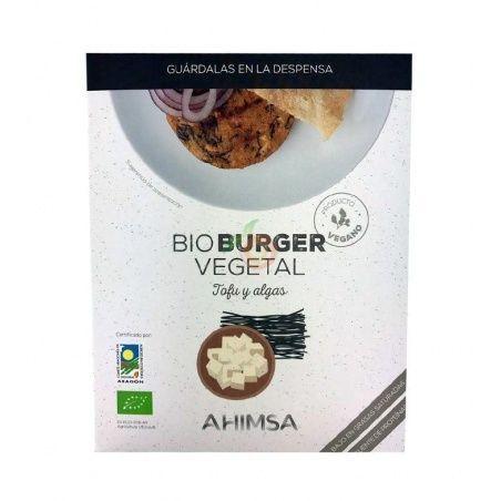 Bioburguer vegetal tofu y algas 160 gramos ahimsa