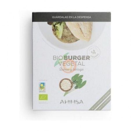 Bioburguer vegetal quinoa y borraja  160 gramos ahimsa