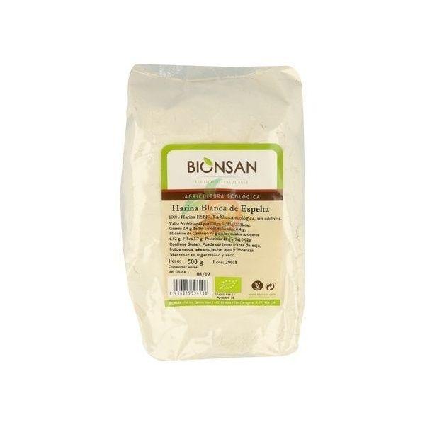 Harina espelta blanca 500 gramos Bionsan