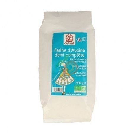 Harina de avena semi integral bio 500 gramos celnat