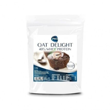 Harina de avena sabor chocolate brownie 40% whey protein pwd