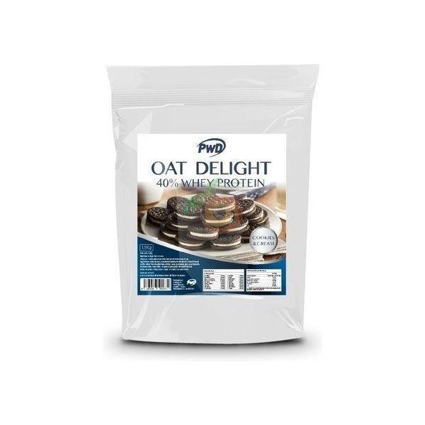 Harina de avena sabor cookies y crema 40% whey protein pwd