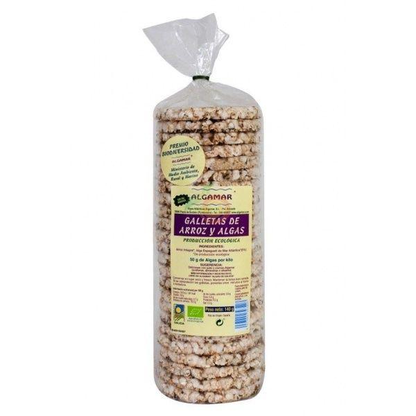 Tortitas de arroz y algas bio sin sal añadida algamar
