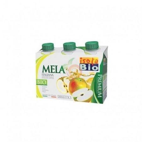 Pack zumo de manzana bio 3 x 200 ml isola bio